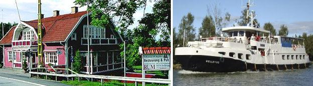 Göta Canal boat cruise with dinner and accommodation.