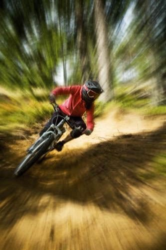 Cycle downhill (easy ride) and stay at Järvsö Camping