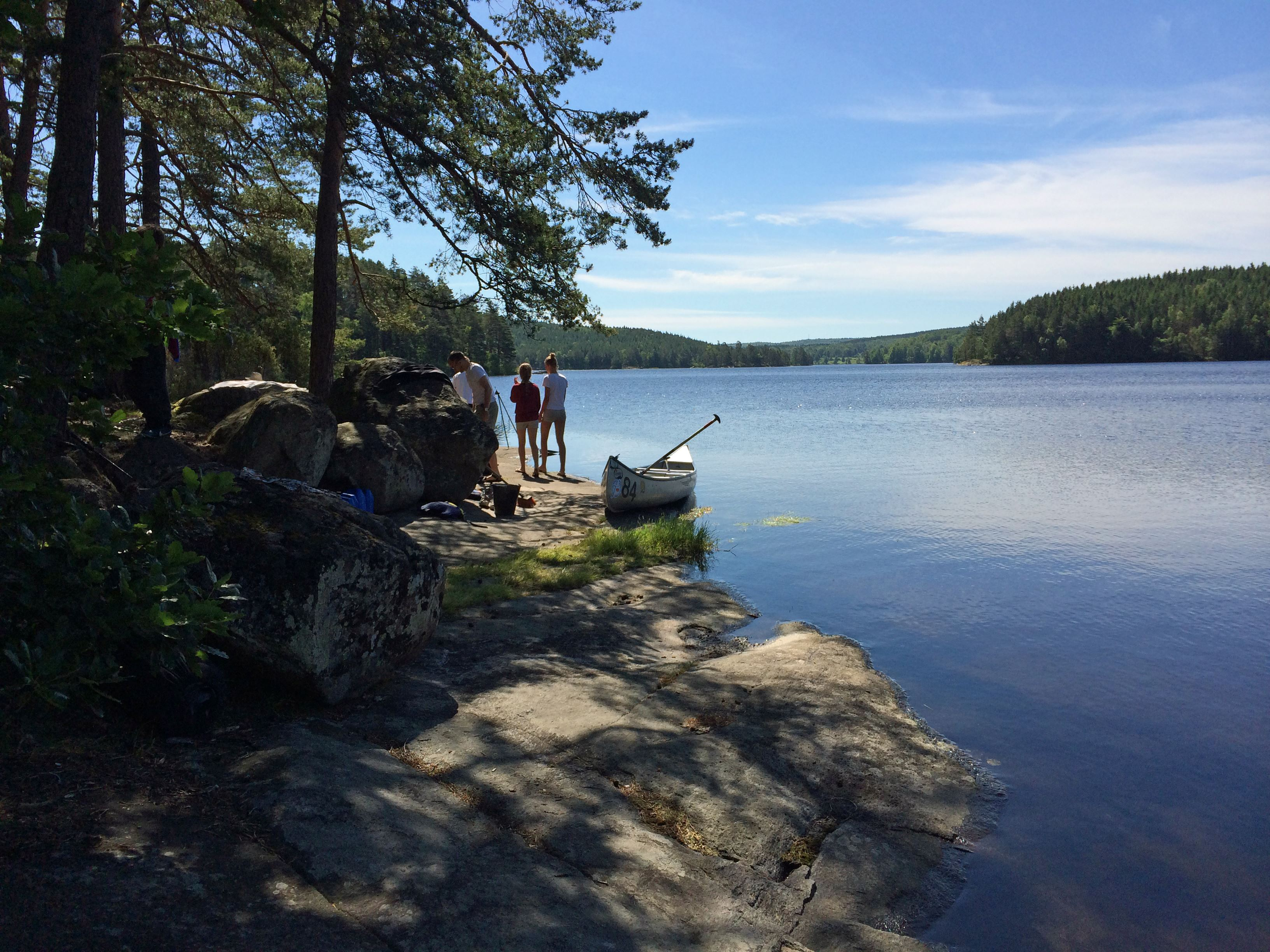 Canoeing in Blekinge's biggest lake Halen