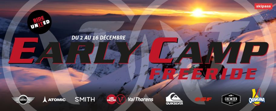 EARLY CAMP - SESSION 2017 SPECIAL FREERIDE- DU 02/12/17 AU 16/12/17 - A PARTIR DE 164€ / PERS*