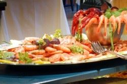 Package with overnight stay and shellfish buffet