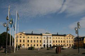 Bild på Stora Kronohuset vid Stora Torg i Kristianstad