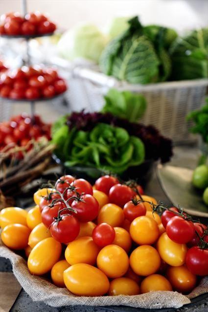 Bild på tomater och andra grönsaker på Rathckegården
