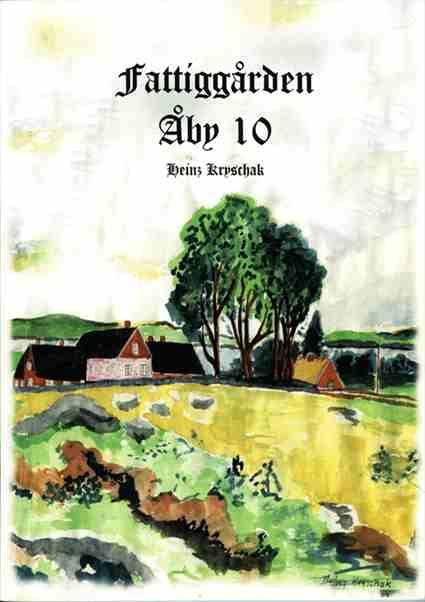 Illustrerad bild av Åby Torp och omslag till en av böckerna
