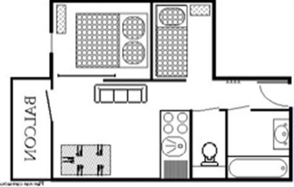 Lauzières 620 /Apartment 2 pieces cabin 5 people comfort