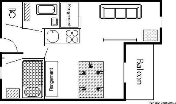 Reine Blanche 053 / Apartment 2 pieces 4 people comfort