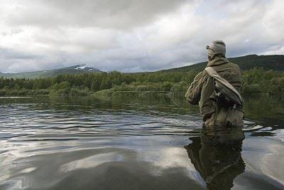 Fisketävling i Tärnaån - en del i fiskefestivalen