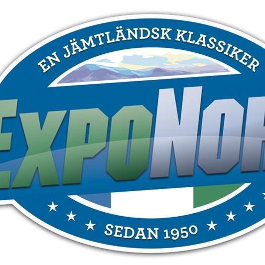 © Copy: Expo Norr, Blå logga med texten Expo Norr