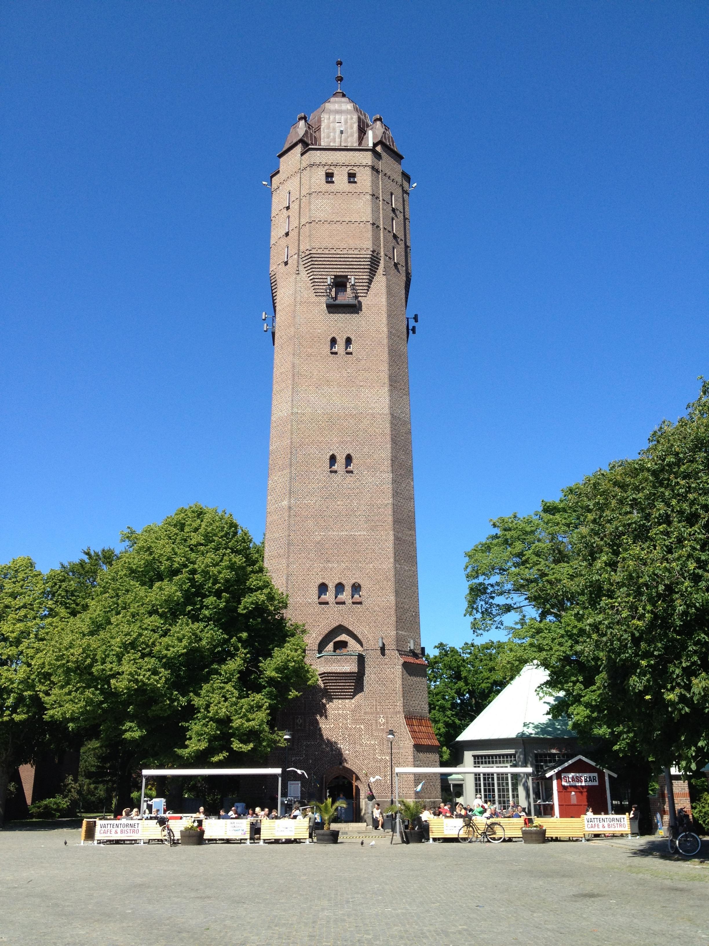 Sandra Jeppsson, Café Vattentornet är beläget vid foten av Vattentornet i centrala Trelleborg
