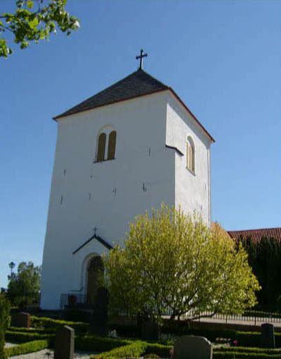 © Anderslövs Församling, Det medeltida tornet byggdes om 1746