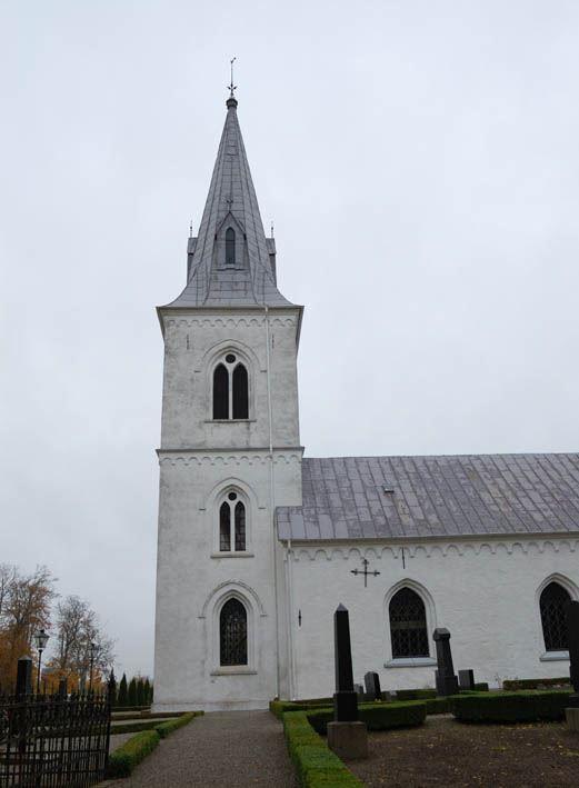 © Anderslövs Församling, År 1883 byggdes det nya, höga tornet och en ny klocka inköptes också.