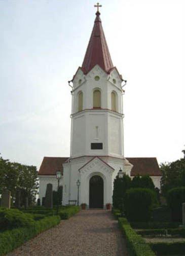 © Anderslövs Församling, Kyrkan började uppföras 1863 och 6 november 1864 invigdes den.