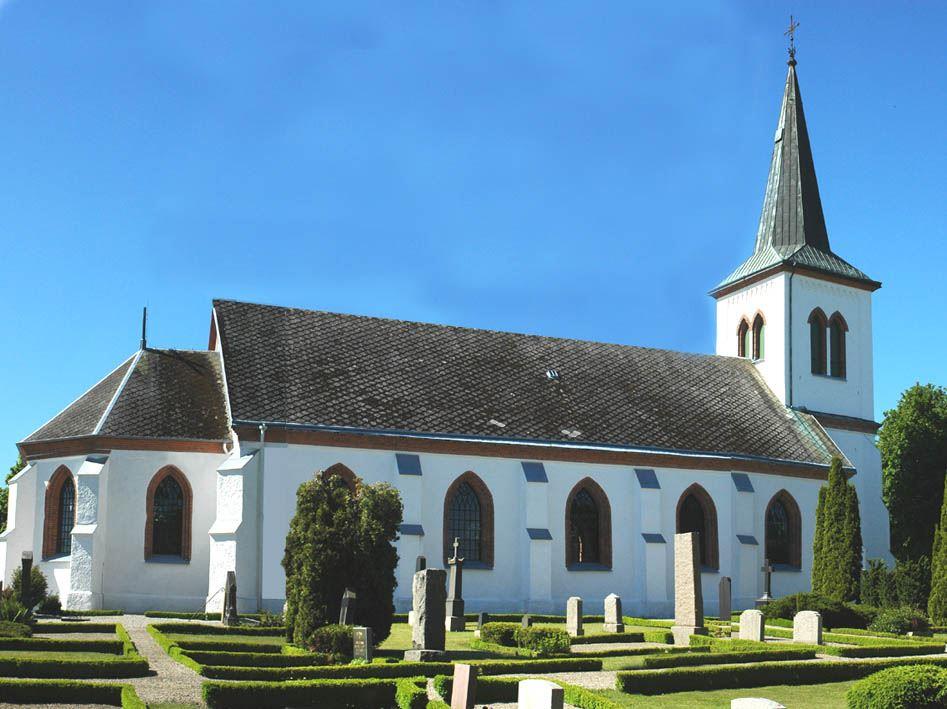 © Dalköpinge Församling, Bösarps kyrka i nygotisk stil från 1871