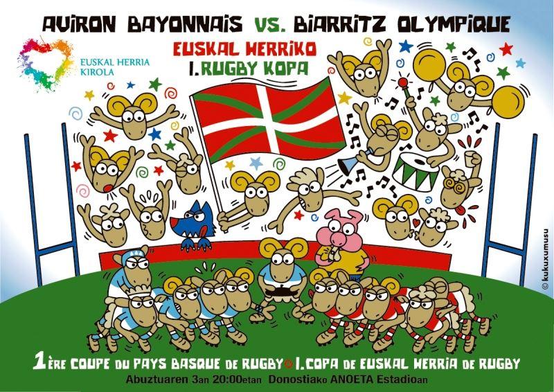 1 ère Coupe du Pays Basque de Rugby au Stade Anoeta de Saint Sébastien en Espagne le 3 Août à 20h