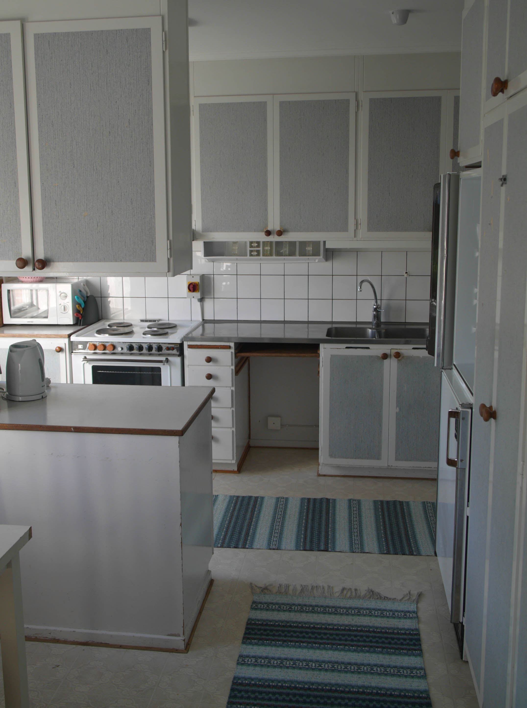 Köket på Glimåkra vandrarhem i Broby