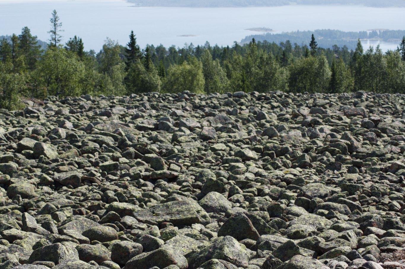 © Kramfors kommun, Klapperstensfält på Högklinten