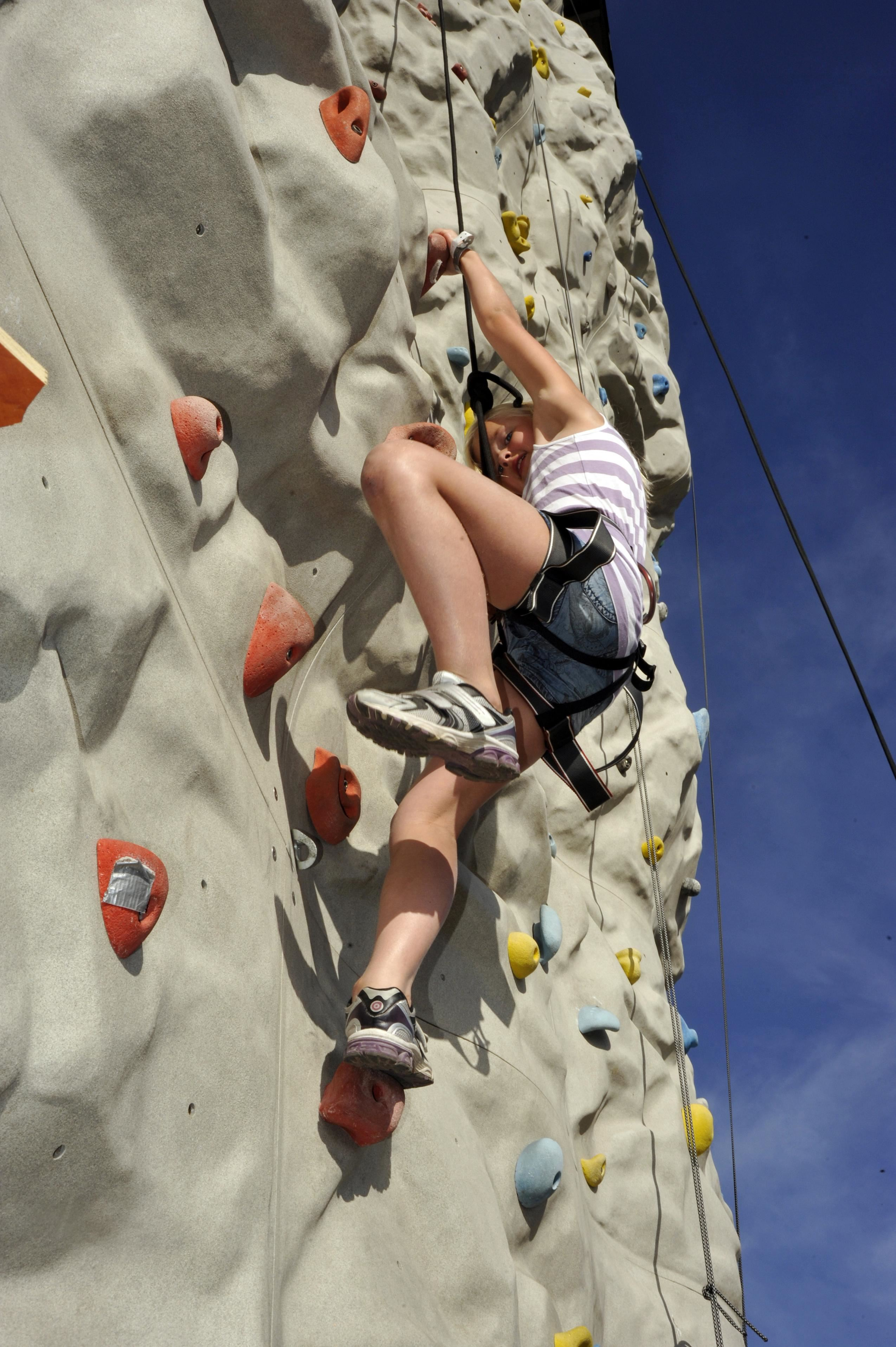 Try out climbing