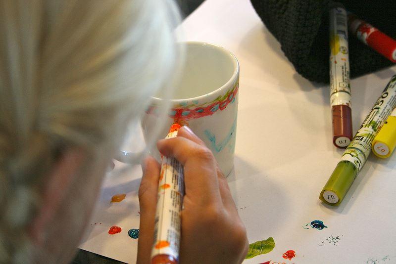 Muggmålning på Iittala outlet