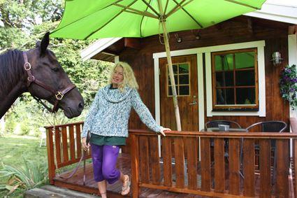 Skogsgläntans häst och stuga