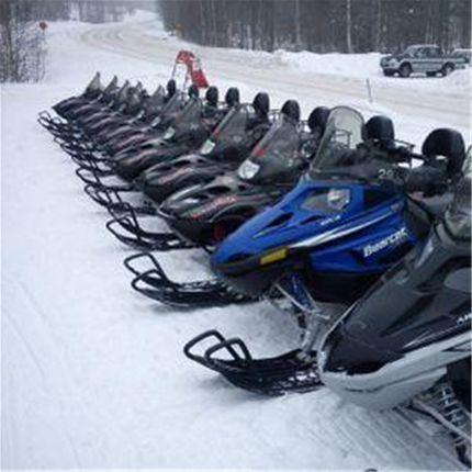 Snowscooter in Närdalen