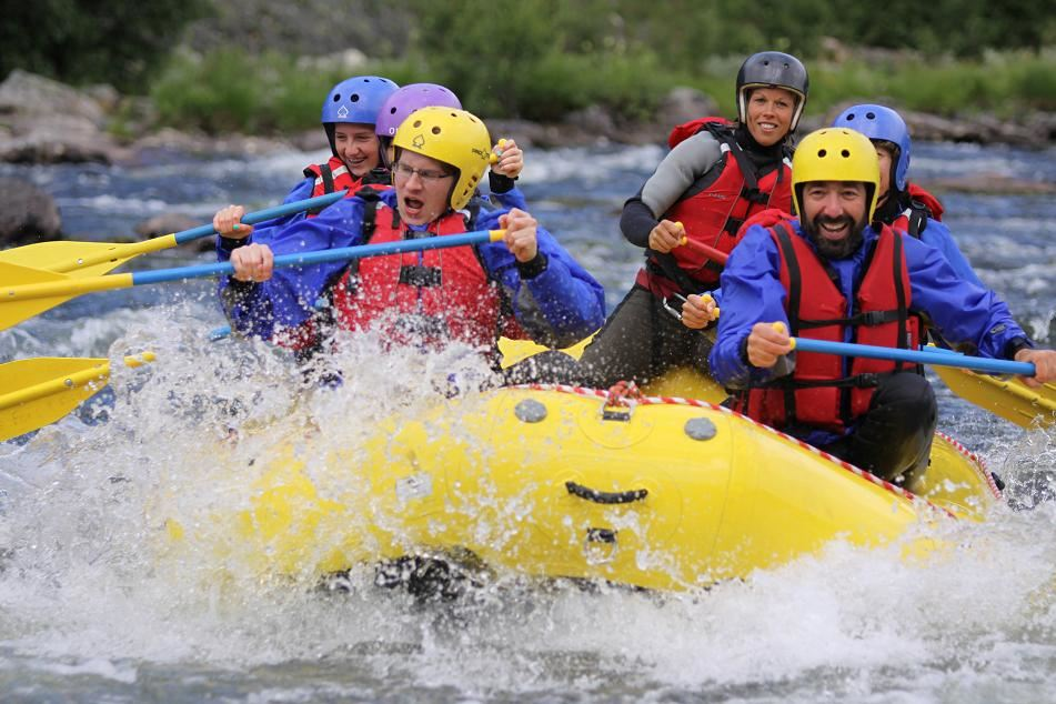 White water rafting in Åre