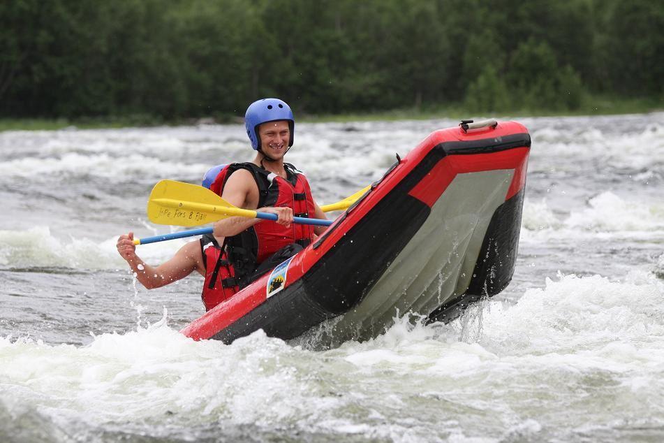 Rafting in Tångböleströmmarna