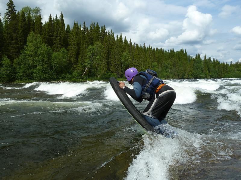 Riverboarding in Årefjällen