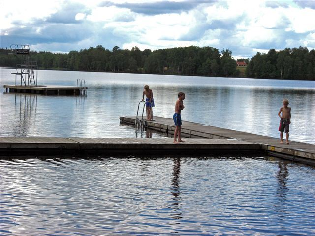 Swimming area in Yxnanäs - Lake Djupasjön