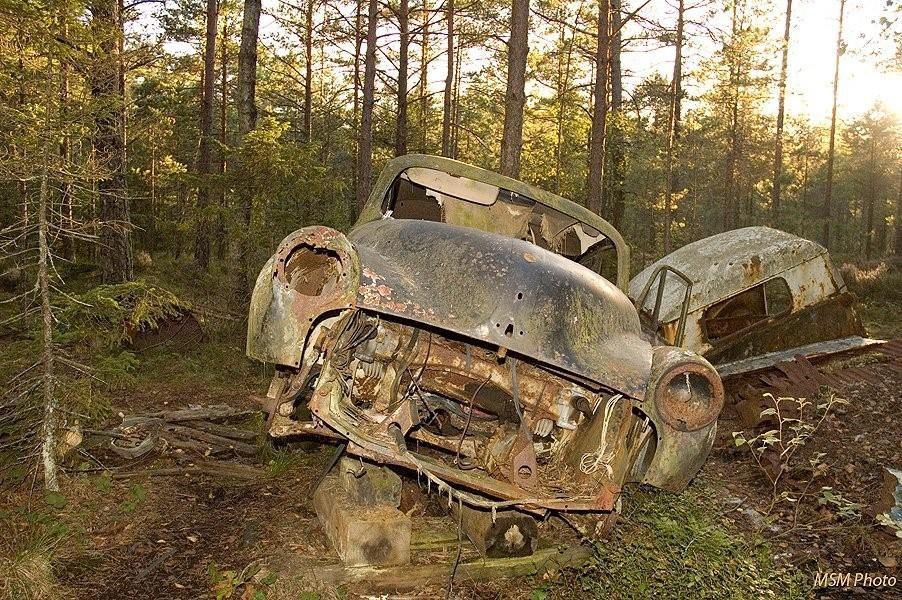 Car graveyard Kyrkömosse