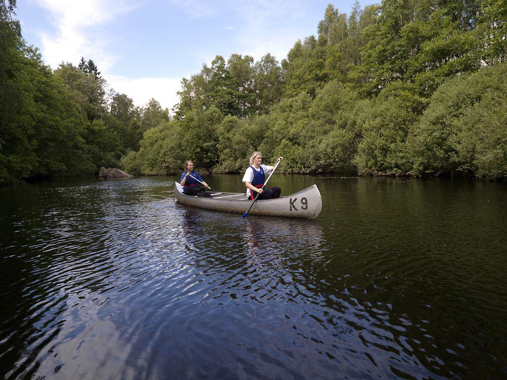 Canoeing in Ronnebyån