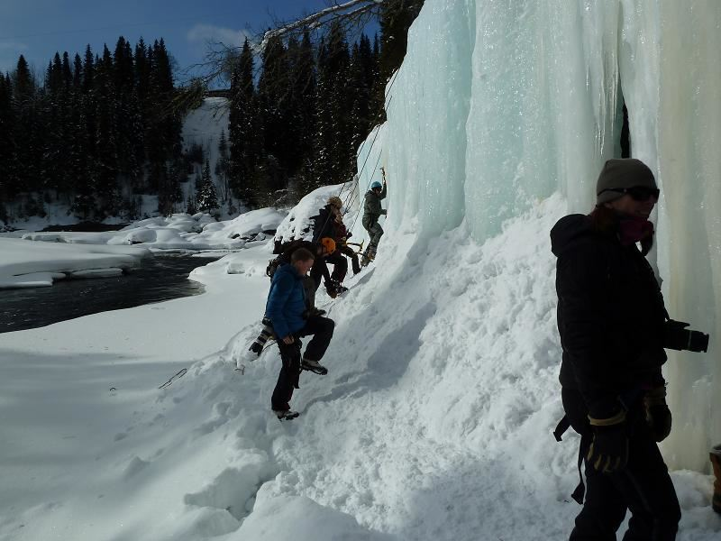Ice climbing with a visit to the ice and limestone caves