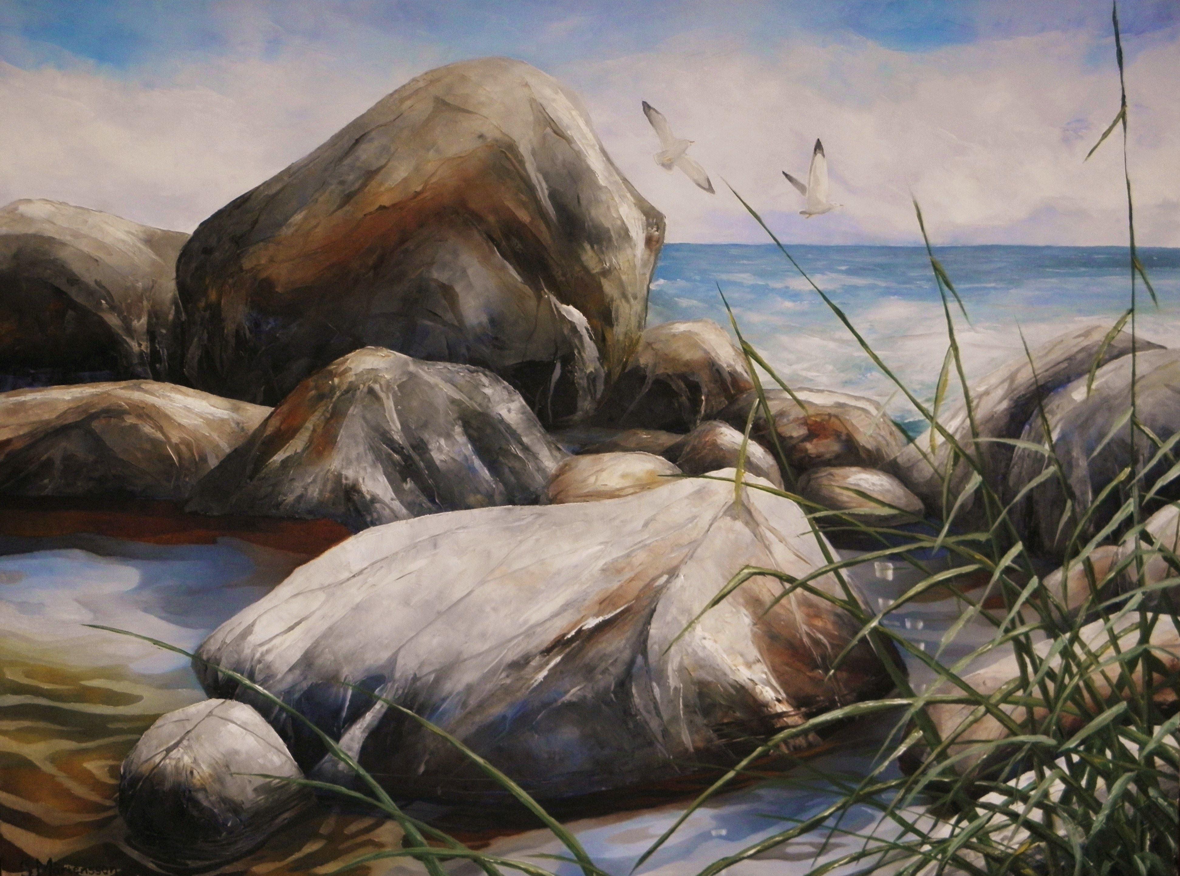 Oljemålning 60x80 cm Stefan Mårtensson