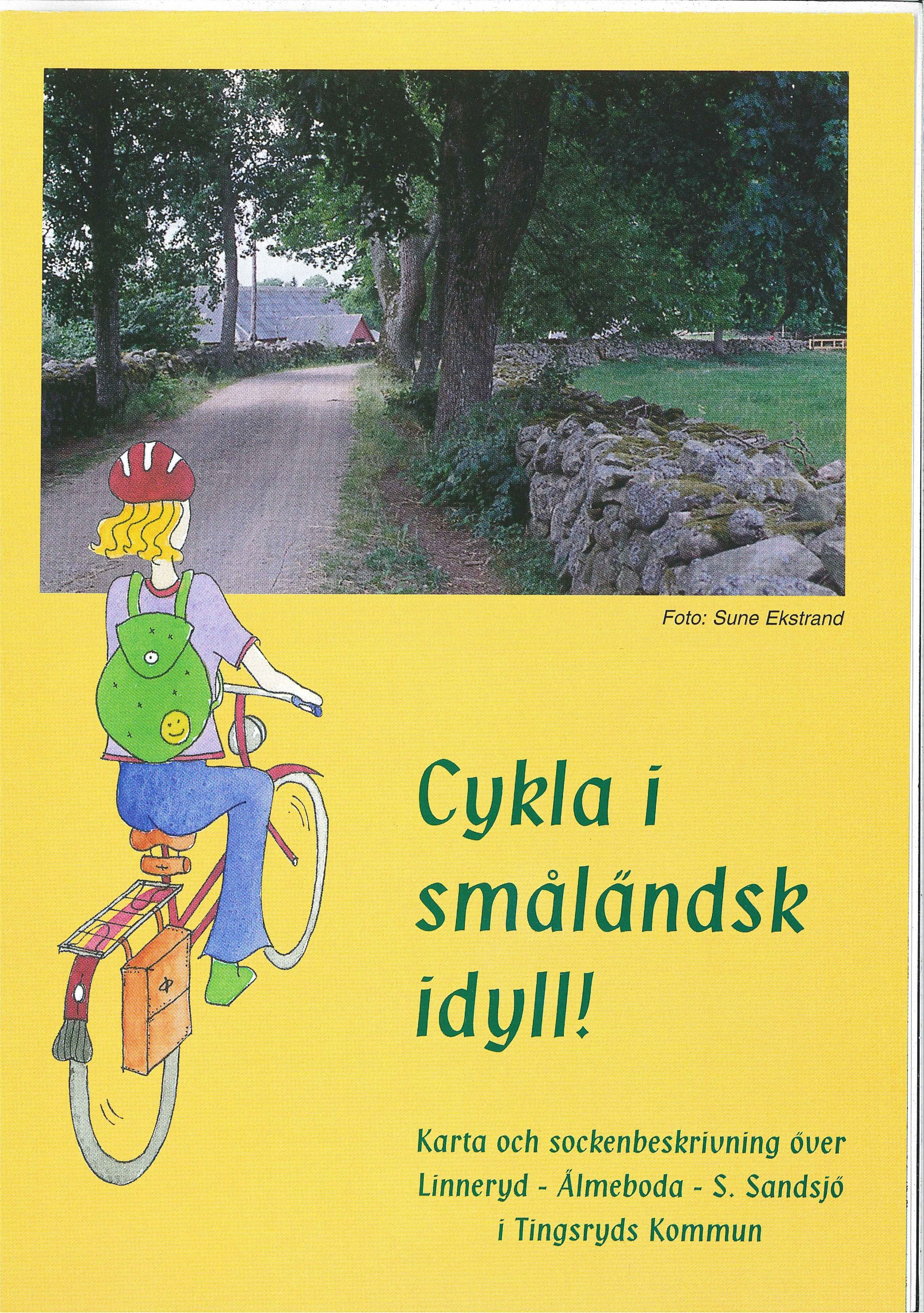 Biking through landscapes typically for Småland!