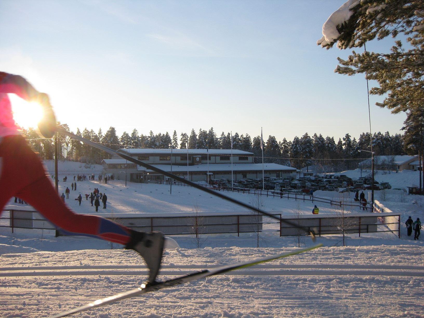 Björnjakten på Älvdalens skidstadion
