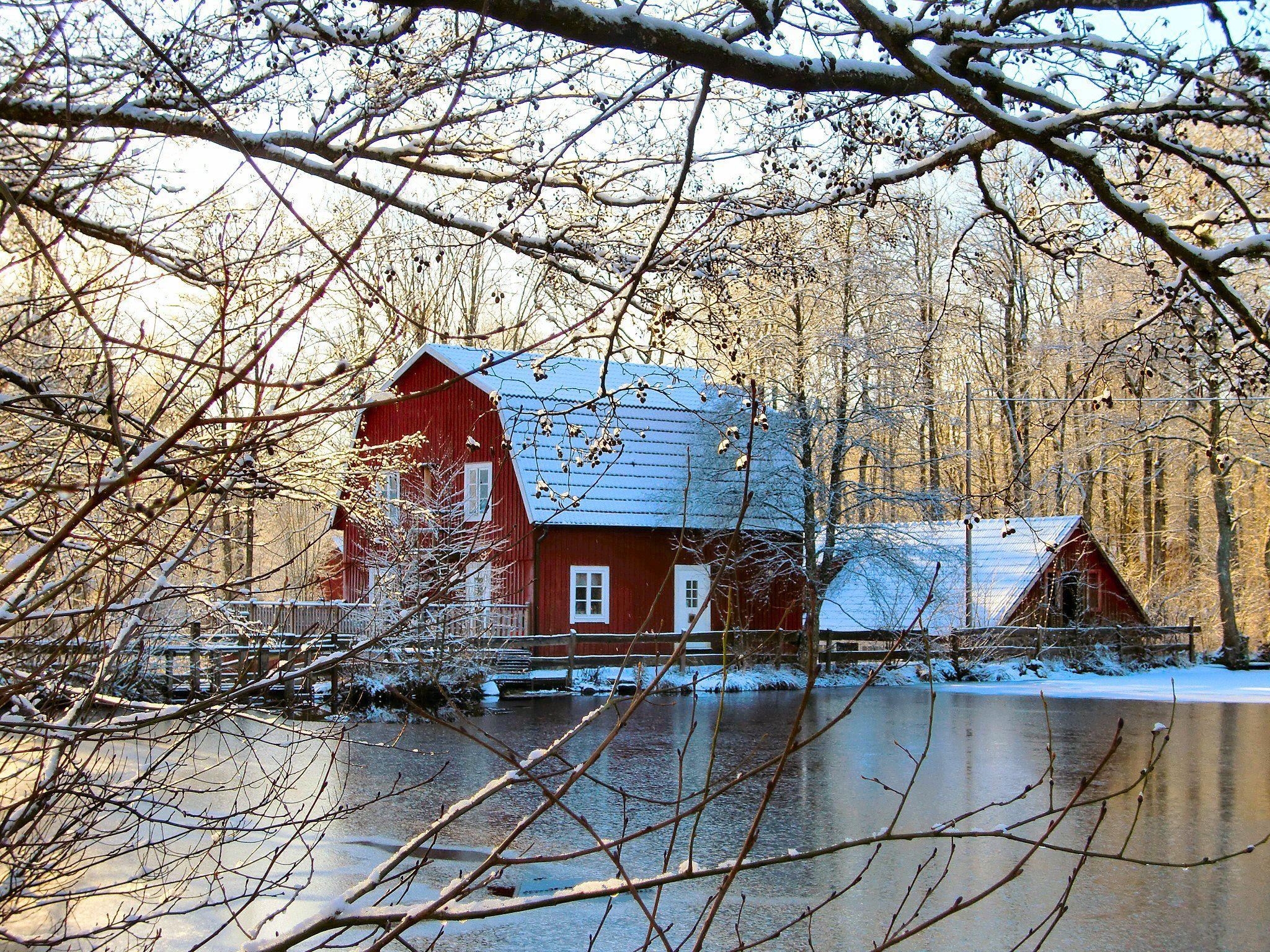 Kvarnen i Knällsberg,  © Kvarnen i Knällsberg, Kvarnen under vintern