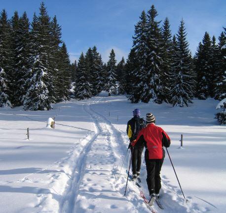 Skidspår i Njutånger, Hudiksvall