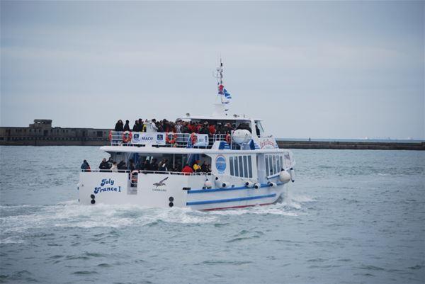 """Descente de la Seine, le 6 juin, à bord du """"Joly France I"""" (sans repas)"""