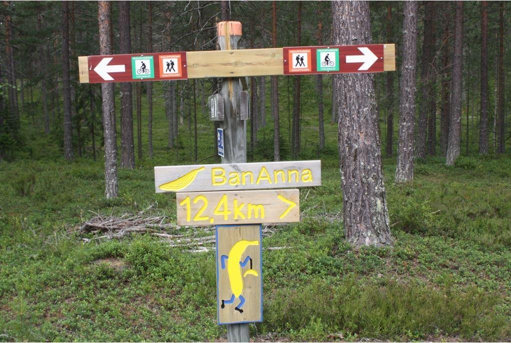 Bananna, Mora - vandringsled