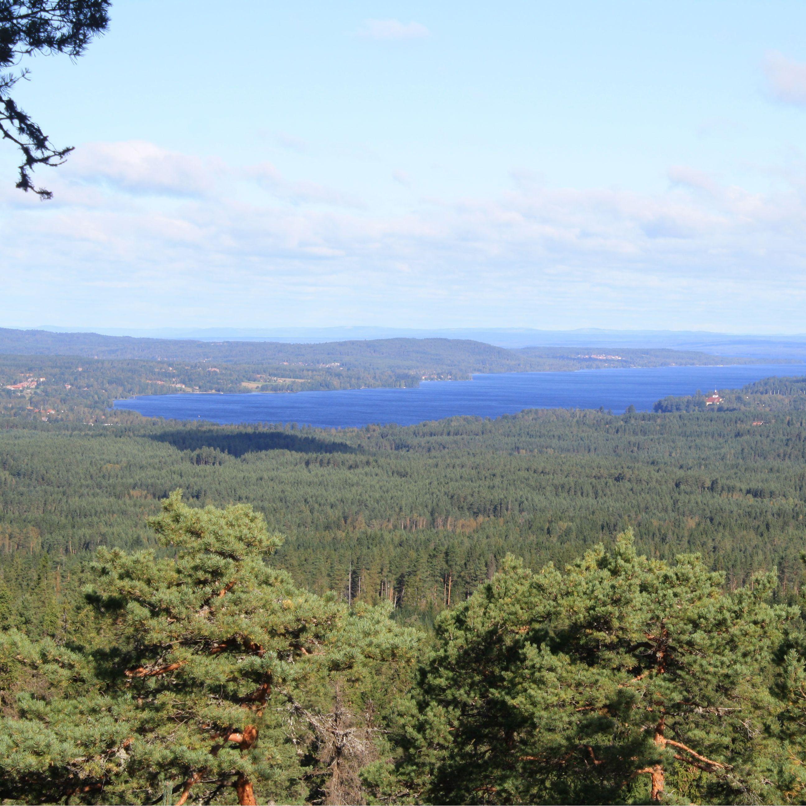 Utsikt över Leksand från Asaklitt