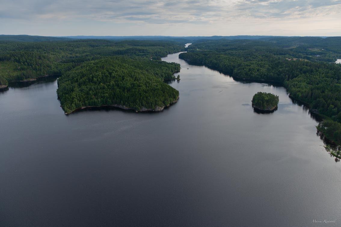 Flygbild över Östen i Värmland