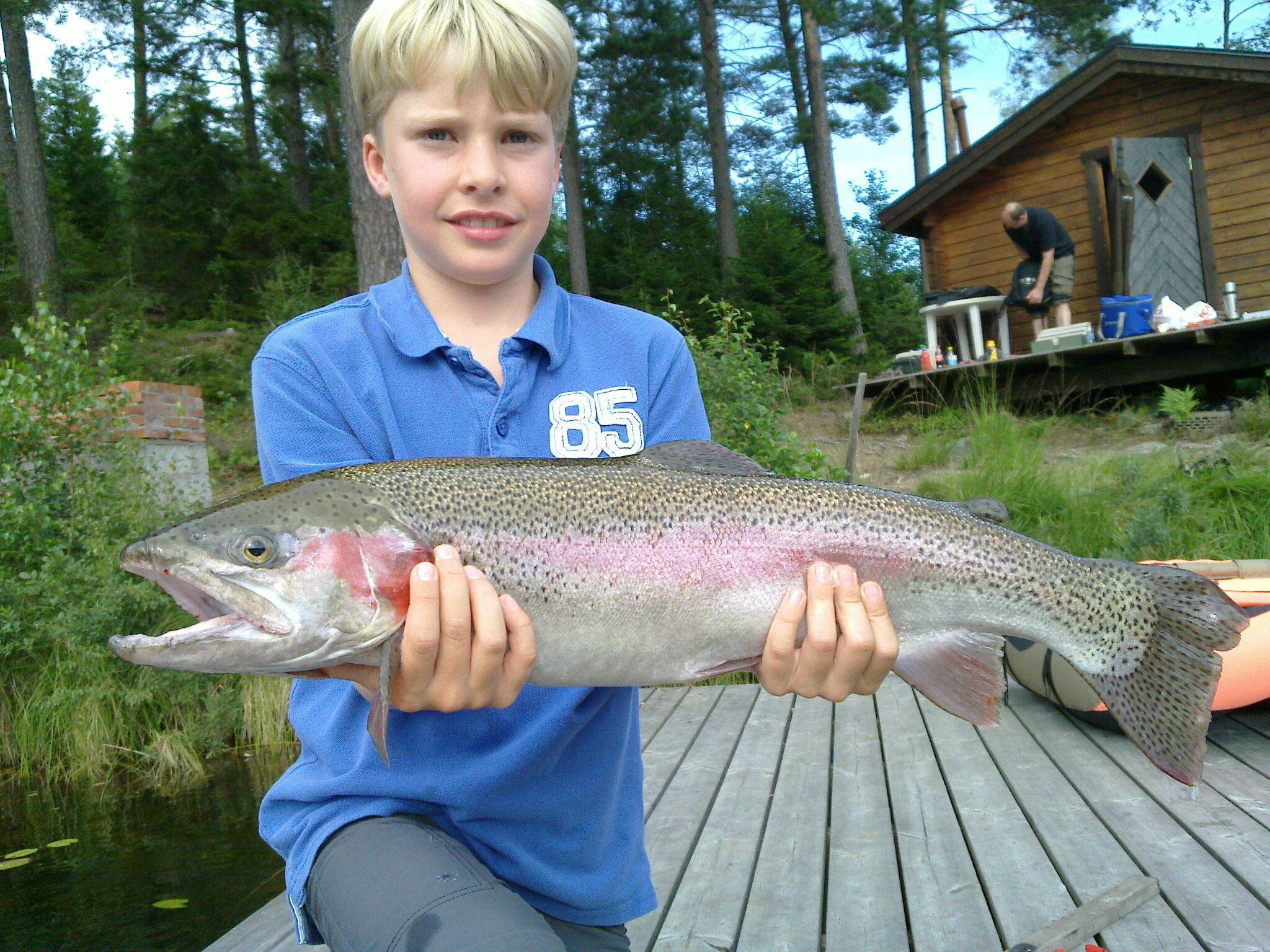 Fishing rainbow trouts in Bellyboats