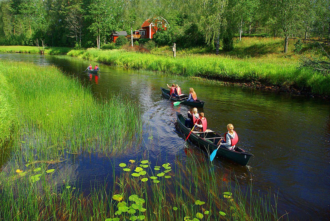 Paddla kanot på Emån