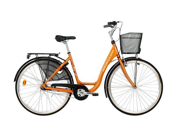 7-vaihteinen polkupyörä korilla