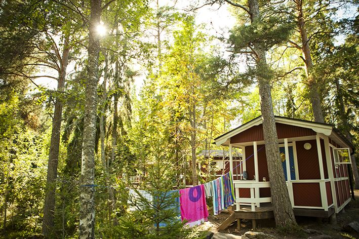 Furuviksparken,  © Furuviksparken, Stay at Furuviks Camping which is situated on a lake and offers four bed cabins, as well as areas for tents and caravans.