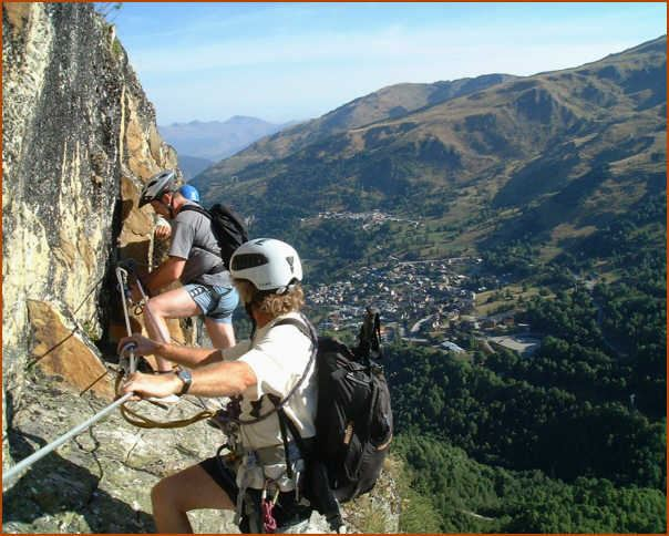 Adventure pack: 3 half-days introductory canyoning, via ferrata, tyrolienne