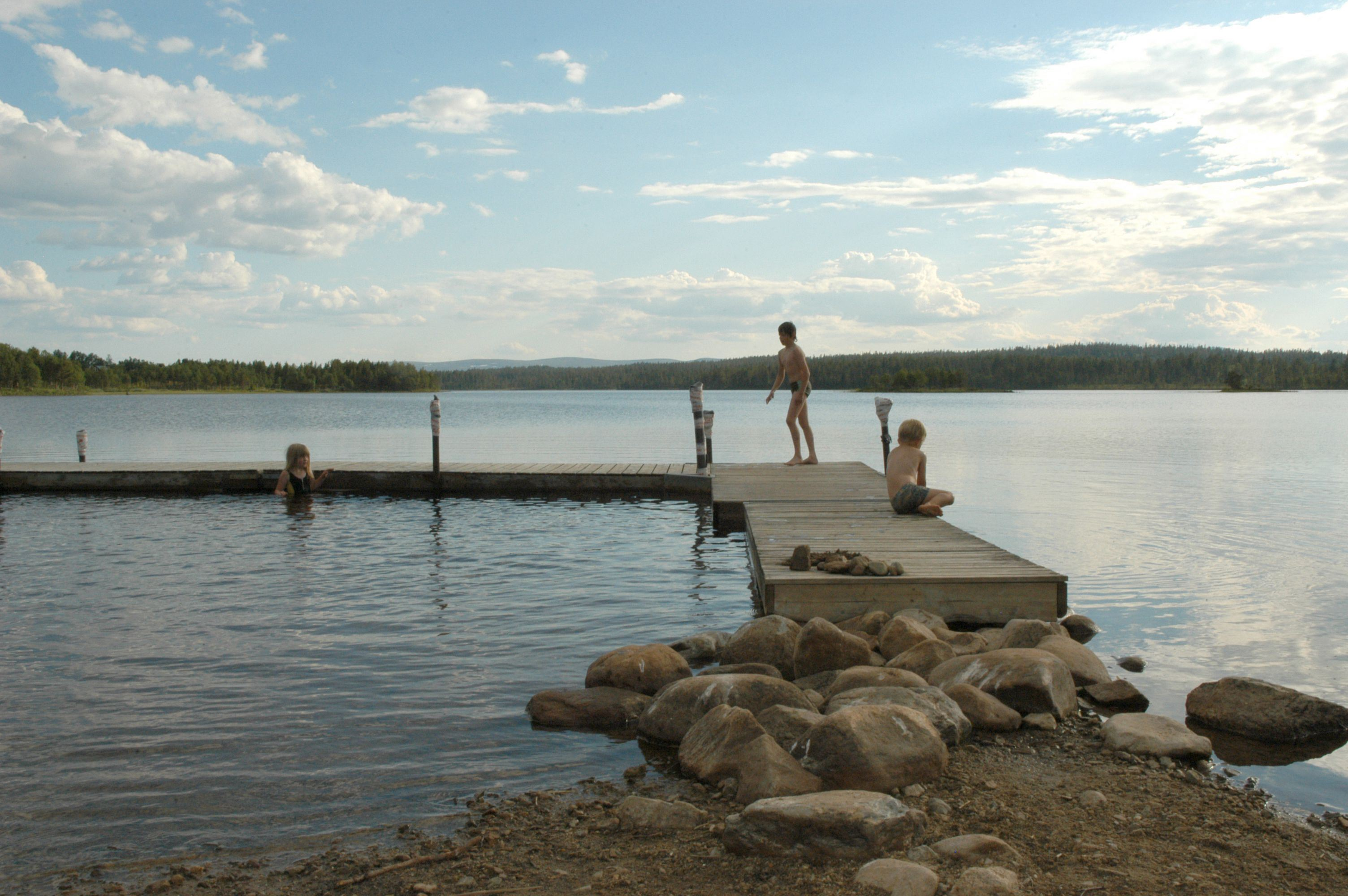 Nisse Schmidt, Drevdagens badplats