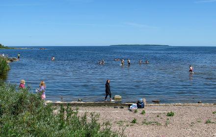 Badplatsen vid Badviken/Tärnviken