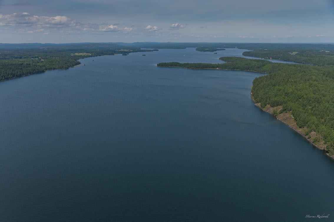 Reidevall,  © Reidevall, Flygbild över sjön Ånimmen