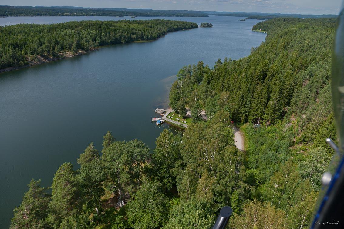 Reidevall,  © Reidevall, Flygbild över rampen i Lunnevika