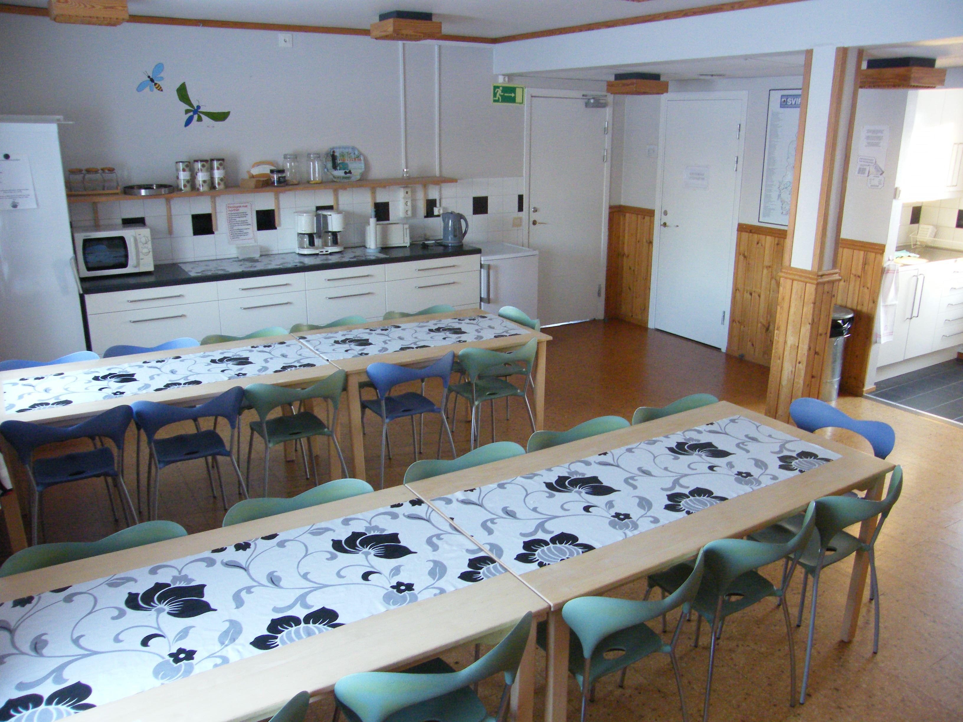 Stiftsgården Tallnäs kök i vandrarhemmet